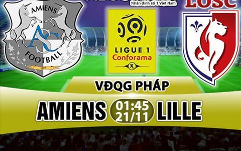 Nhan dinh Amiens vs Lille 01h00 ngày 2111 (Ligue 1 201718) hinh anh