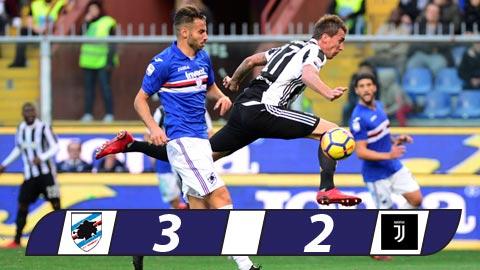 Sampdoria 3-2 Juventus Nha vua thua soc hinh anh