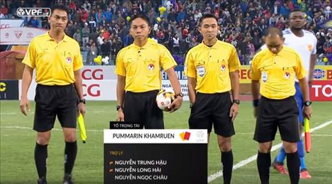 NONG Trong tai dieu khien tran Ha Noi vs Quang Nam bi bat o Thai Lan hinh anh
