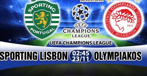 Nhan dinh Sporting vs Olympiakos 02h45 ngay 2311 (Champions League 201718) hinh anh