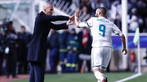 Karim Benzema ghi cu dup trong tran thang APOEL Nicosia.