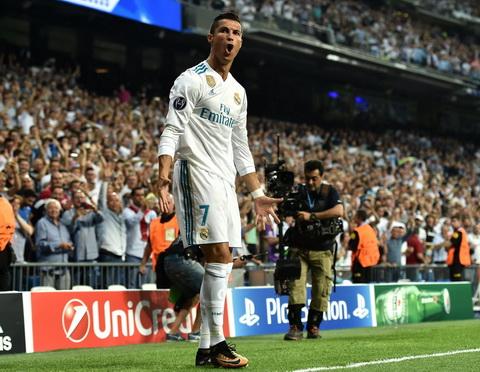 Cristiano Ronaldo da ghi duoc 18 ban tai Champions League trong nam 2017.