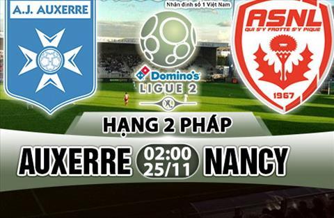 Nhan dinh Auxerre vs Nancy 02h00 ngay 2511 (Hang 2 Phap 201718) hinh anh