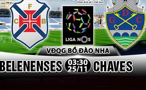 Nhan dinh Belenenses vs Chaves 03h30 ngay 2511 (VDQG Bo Dao Nha 201718) hinh anh