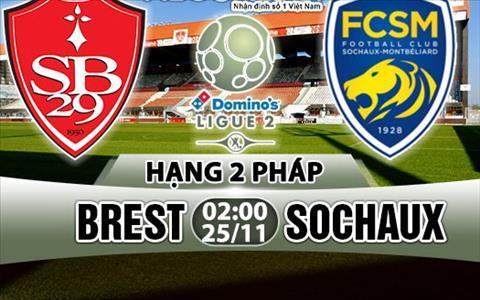 Nhan dinh Brest vs Sochaux 02h00 ngay 2511 (Hang 2 Phap 201718) hinh anh