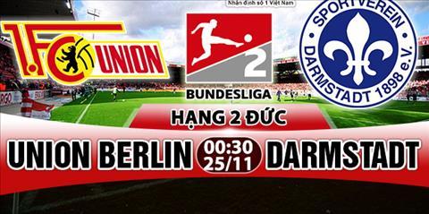 Nhan dinh Union Berlin vs Darmstadt 0h30 ngay 2511 (Hang 2 Duc 201718) hinh anh