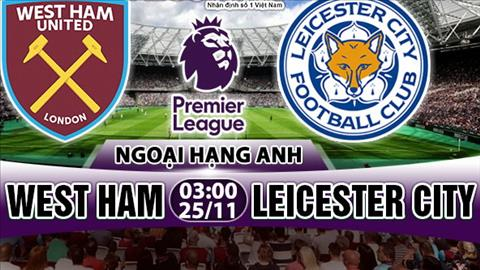 Nhan dinh West Ham vs Leicester 03h00 ngay 2511 (Premier League 201718) hinh anh