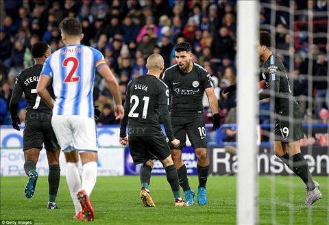 Huddersfield 1-2 Man City Man xanh lap 2 ky luc hinh anh