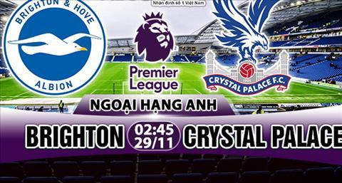 Nhan dinh Brighton vs Crystal Palace 02h45 ngày 2911 (Premier League 201718) hinh anh