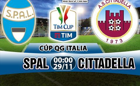 Nhan dinh SPAL vs Cittadella 0h00 ngay 2911 (Coppa Italia 201718) hinh anh