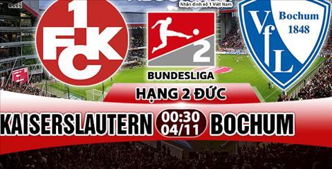 Nhan dinh Kaiserslautern vs Bochum 00h30 ngay 411 (Hang 2 Duc 201718) hinh anh