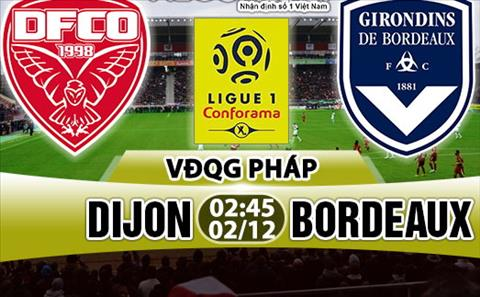 Nhan dinh Dijon vs Bordeaux 02h45 ngày 212 (Ligue 1 201718) hinh anh