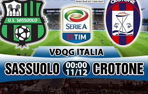 Nhan dinh Sassuolo vs Crotone 00h00 ngay 1112 (Serie A 201718) hinh anh
