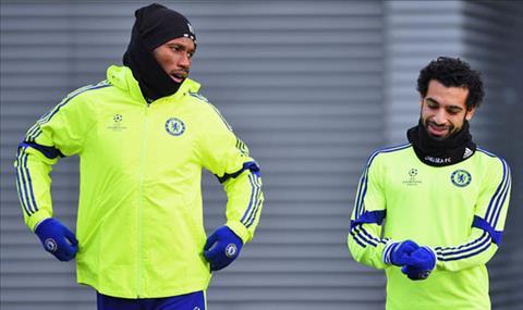 Drogba va Salah khi con thi dau cho Chelsea