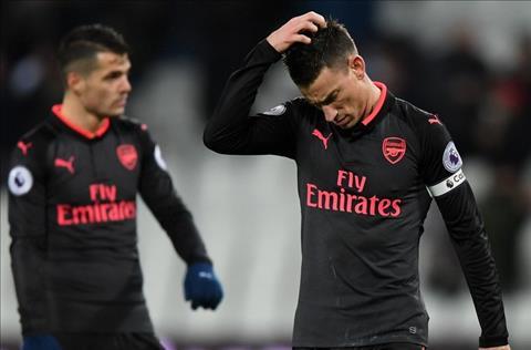 Arsenal cua Koscielny tut xuong thu 7 tren BXH