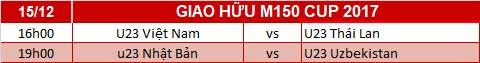 Lich thi dau bong da tai M150 Cup 2017 hom nay 1512 hinh anh 2