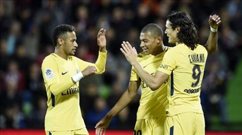 Rennes 1-4 PSG Su khung khiep cua tam tau M-C-N hinh anh