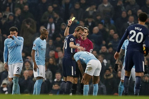 Kane an the vang vs Man City
