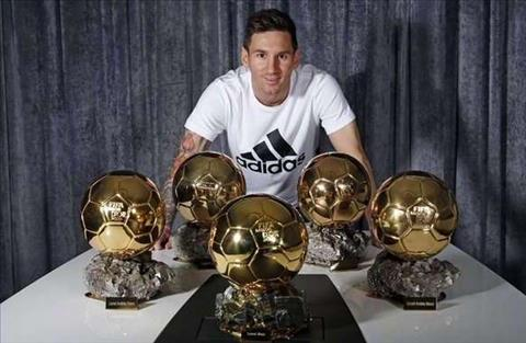Messi va 5 Qua bong vang QBV