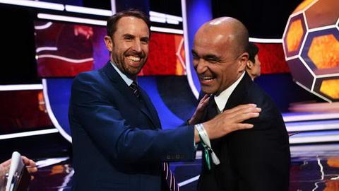 Gareth Southgate va Roberto Martinez san sang cho lan doi dau nhau tai World Cup 2018.