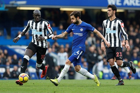 Fabregas vs Newcastle