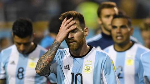 Messi va cac dong doi roi vao bang dau kho tai World Cup 2018.