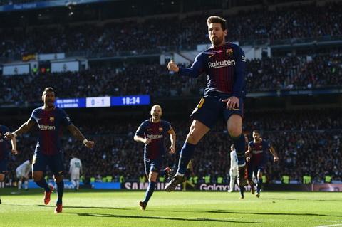 Messi gay an tuong trong tran El Clasico.