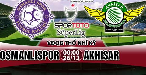 Nhan dinh Osmanlispor vs Akhisar 00h00 ngay 2612 (VDQG Tho Nhi Ky) hinh anh