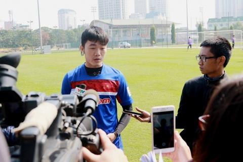 Xuan Truong dang tap trung chuan bi cung U23 Viet Nam.