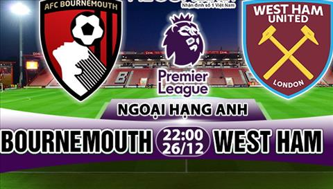 Nhan dinh Bournemouth vs West Ham 22h00 ngày 2612 (Premier League 201718) hinh anh