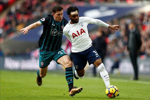 Danny Rose o tran Tottenham vs Southampton