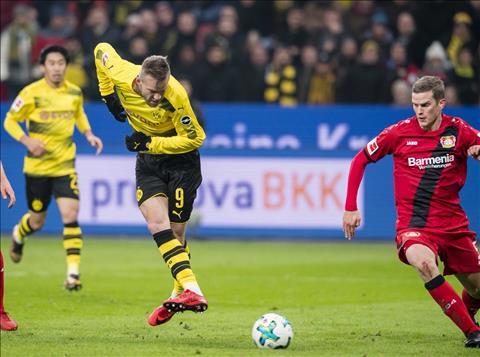 Leverkusen 1-1 Dortmund That vong cung cuc hinh anh