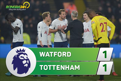 Tong hop Watford 1-1 Tottenham (Vong 15 Premier League 201718) hinh anh