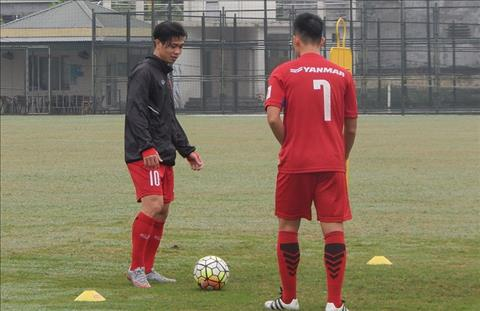 Cong Phuong tap rieng, U23 Viet Nam dong cua voi bao gioi hinh anh
