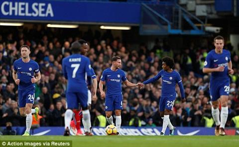 Cham diem Chelsea 5-0 Stoke Tien ve Willian sang nhat hinh anh