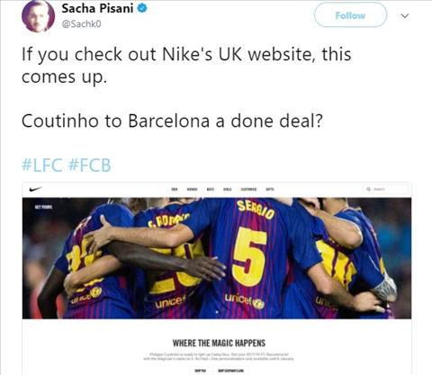 Them bang chung cho thay Coutinho sap la nguoi cua Barca hinh anh 2