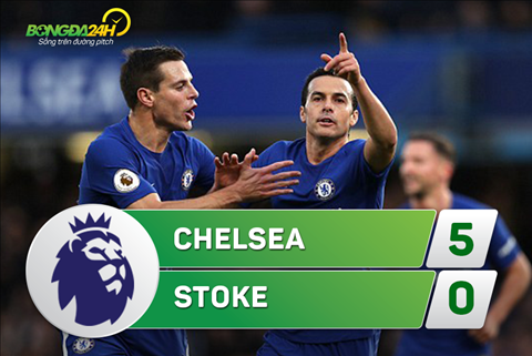 Tong hop Chelsea 5-0 Stoke (Vong 21 Premier League 201718) hinh anh