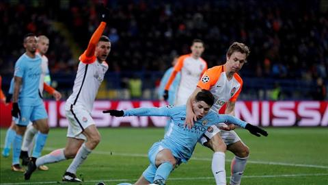 Man City thua Shakhtar 1-2