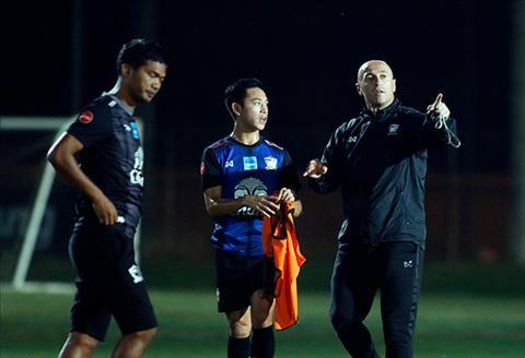 HLV U23 Thai Lan dung U23 Viet Nam de canh bao cac hoc tro hinh anh