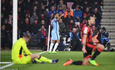 Du am Bournemouth 0-2 Man City Diem 10 cho Sterling hinh anh 2