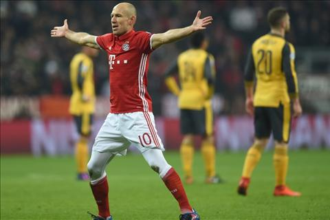 Robben cua Bayern tu tin so phan cua Arsenal khep lai hinh anh