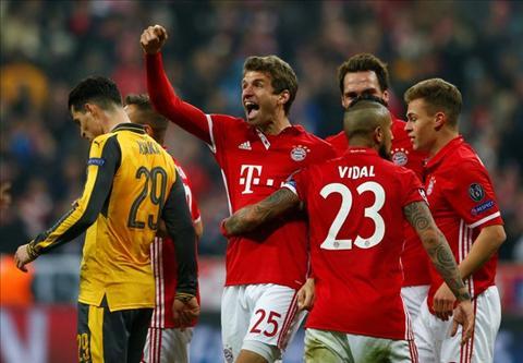 Tong hop Bayern Munich 5-1 Arsenal (Vong 18 Champions League 201617) hinh anh