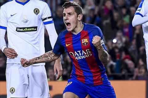 Hau ve Lucas Digne Barca choi tot hon Real o La Liga hinh anh