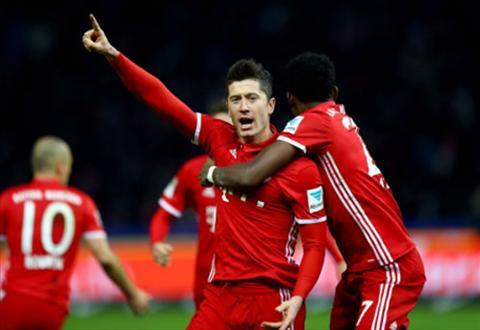 Tong hop Hertha Berlin 1-1 Bayern Munich (Vong 21 Bundesliga 201617) hinh anh