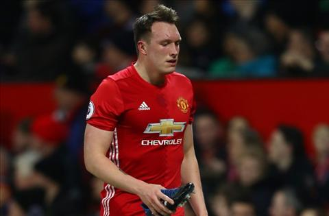 Trung ve Phil Jones dinh chan thuong hinh anh