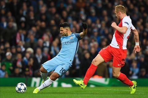 Man City vs Monaco Aguero dut diem