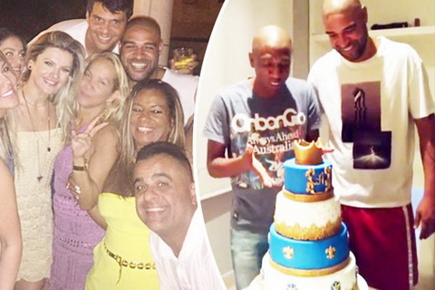 Adriano hào phóng chi tièn cho sinh nhạt tuỏi 35 hom cuói tuàn. Ảnh: Daily Star.