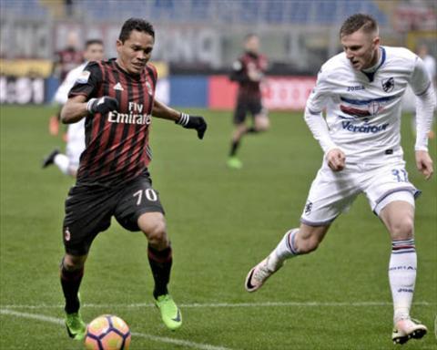 Tong hop AC Milan 0-1 Sampdoria (Vong 23 Serie A 201617) hinh anh