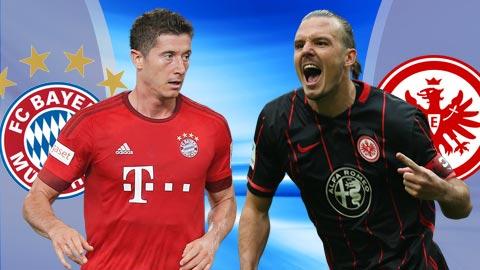 Nhan dinh Bayern Munich vs Frankfurt 21h30 ngay 113 (Bundesliga 201617) hinh anh