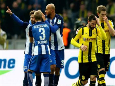 Tong hop Hertha Berlin 2-1 Dortmund (Vong 24 Bundesliga 201617) hinh anh